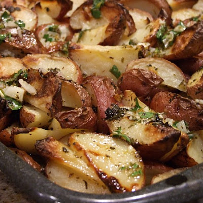Greek Potatoes w/ Lemon Vinaigrette