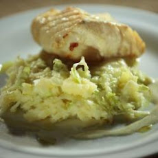 White Fish On Iceberg Potato Purée