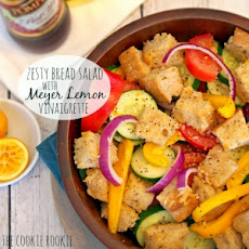 Zesty Bread Salad with Meyer Lemon Vinaigrette