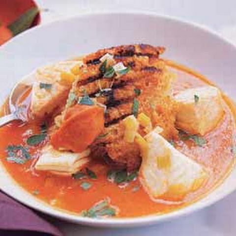 provencal fish soup with saffron rouille recipes dishmaps fish soup ...