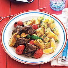 Sirloin-Vegetable Kebabs with Balsamic Glaze