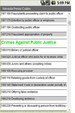 Nevada Penal Code 4 Cops
