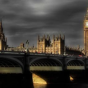 Westminster Bridge 1 by Gabriel Tocu - City,  Street & Park  Historic Districts ( building, suspended structure, westminster bridge, historic district, bridge, architecture, big ben, historical building,  )