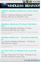 Screenshot of Mindless Behavior News & More