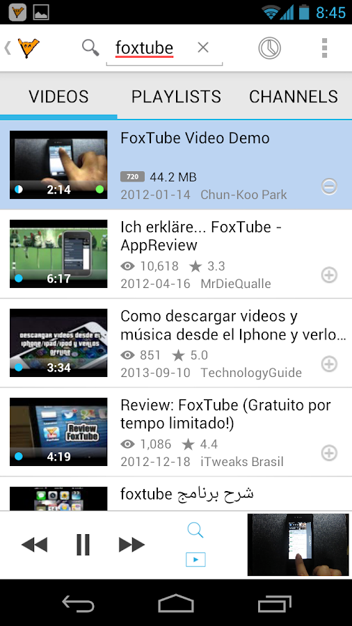 FoxTube - YouTube Player Screenshot 2