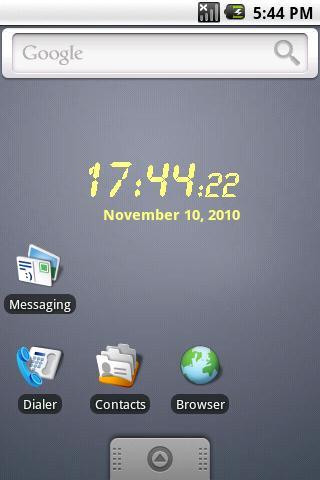 LCD clock widget Donation