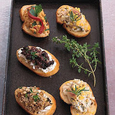 Olive Tapenade and Goat Cheese Crostini