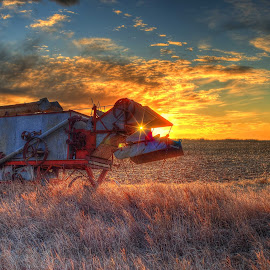 Thrasher by Derrill Grabenstein - Transportation Other ( pasture, sunset, star wars, thrasher, landscape )