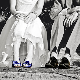 Them Shoes by Alan Evans - Wedding Other ( wedding photography, wedding shoes, wedding day, wedding, aj photography, bride and groom, bride, groom )
