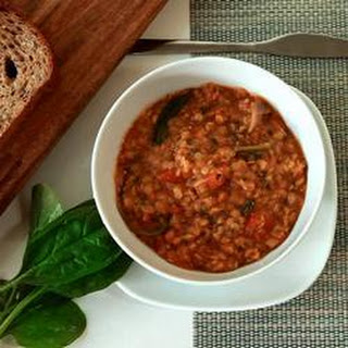 Spicy Red Lentil And Spinach Soup
