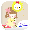 Free Download Rainbow Girl Theme - ZERO APK for Blackberry