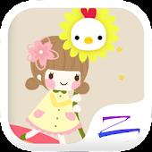 Free Download Rainbow Girl Theme - ZERO APK for Samsung