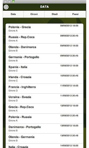 Europei 2012 - Calendario