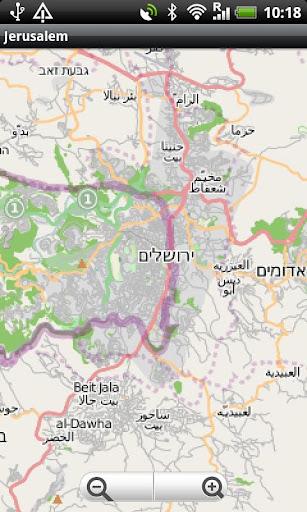 Jerusalem Street Map