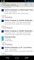 Screenshot of Football Calendars