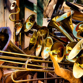 Blow your Horn! by Fred Herring - Artistic Objects Musical Instruments