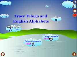 Screenshot of Trace Telugu English Alphabets