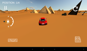 Screenshot of 3D desert race