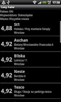Screenshot of Fuel Prices