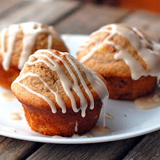 Small Batch Vanilla-Glazed Apple Cinnamon Muffins