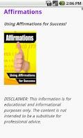 Screenshot of Affirmations for Success