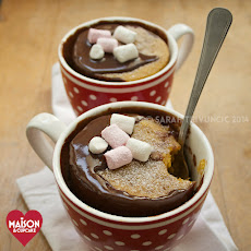 Two Minute Chocolate Pumpkin Mug Cakes