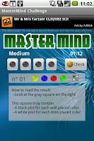 Screenshot of Master Mind Challenge