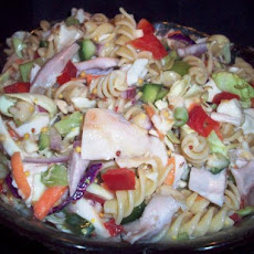 Chicken Coleslaw Pasta Salad