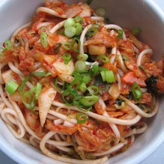 Cold Sesame Noodles with Kimchi