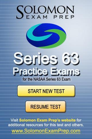 Series 63 Practice Exams