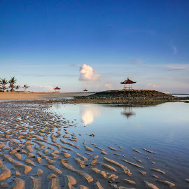 Morning Has Broken by Wei Fuk Lie - Landscapes Beaches ( sand, bali, blue, beach, landscape )