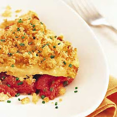Tomato Gratin with White Cheddar Breadcrumbs