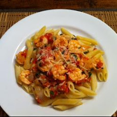 Spicy Shrimp and Tomato Scampi