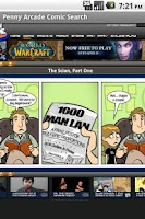 Screenshot of Penny Arcade Comic Search