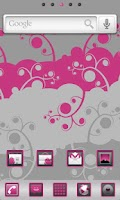 Screenshot of Magenta Go Launcher EX Theme
