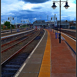 stirling station by Sandy Crowe - Transportation Railway Tracks ( stirling, scotland, srail, victorian, tracks )
