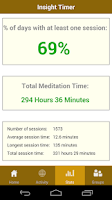 Screenshot of Insight Timer Meditation Timer