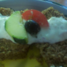 Greek Gyro Meatloaf With Cucumber Yogurt Sauce