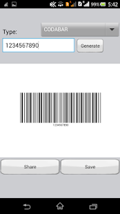 Barcode Scanner and Generator - screenshot