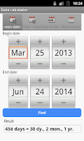 Screenshot of Date Calculator