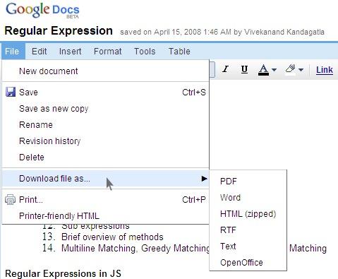 GoogleDocSaving