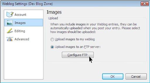 Weblog Settings