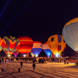Field of Fire by Andy Chow - News & Events Entertainment ( night, hot air balloons, hudson )