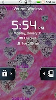 Screenshot of Gem Hearts Live Wallpaper