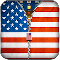 US Flag Zipper Lock APK for Bluestacks