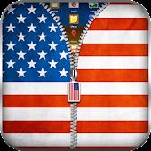 US Flag Zipper Lock APK for Bluestacks