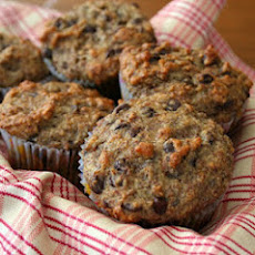 Banana Flax Chocolate Chip Muffins