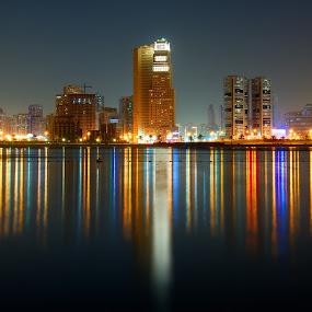 Dubai by Sarath Sankar - City,  Street & Park  Night ( , city at night, street at night, park at night, nightlife, night life, nighttime in the city )