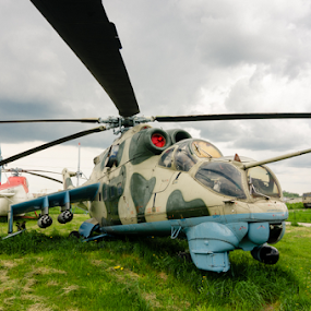 Aviation #3 by Andrey Dayen - Transportation Helicopters ( helicopter, aviation, fly, metal, wide-angle, museum, tech )