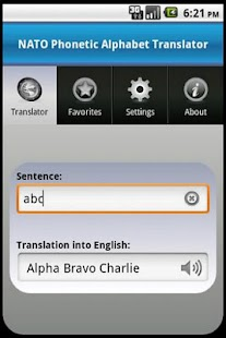 NATO Alphabet Translator - screenshot